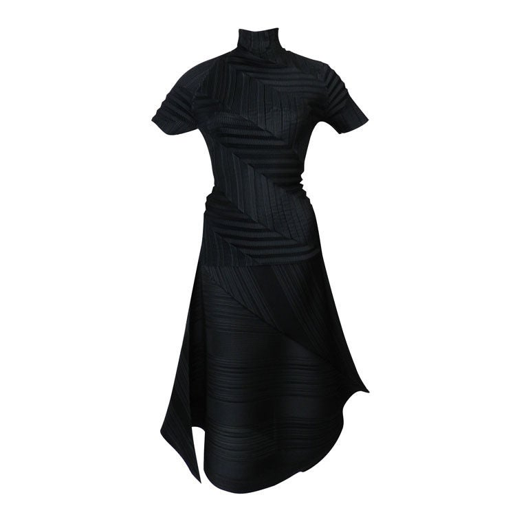 Issey Miyake Black Pleated Skirt & Top