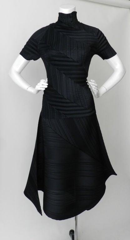 Issey Miyake Black Pleated Skirt & Top image 8