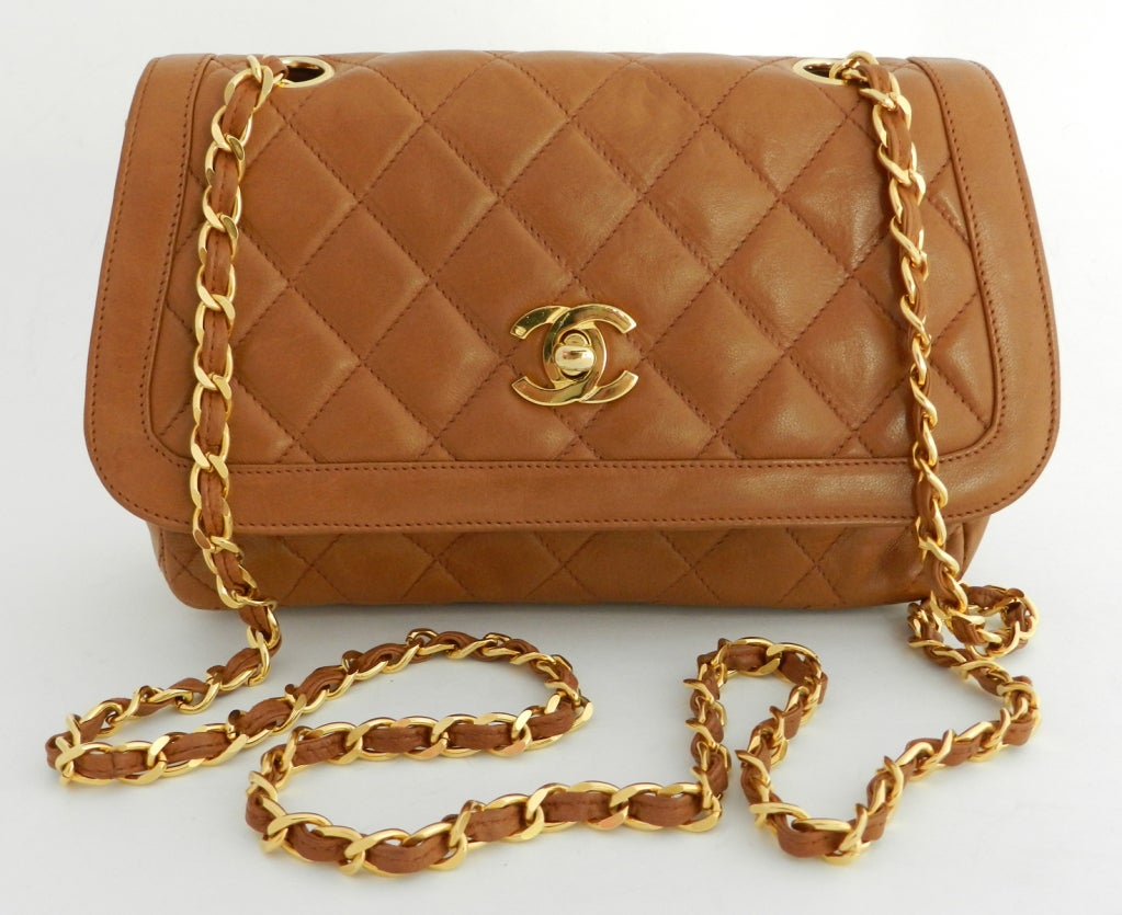 Chanel Classic Vintage Cross Body bag purse - Cognac image 2