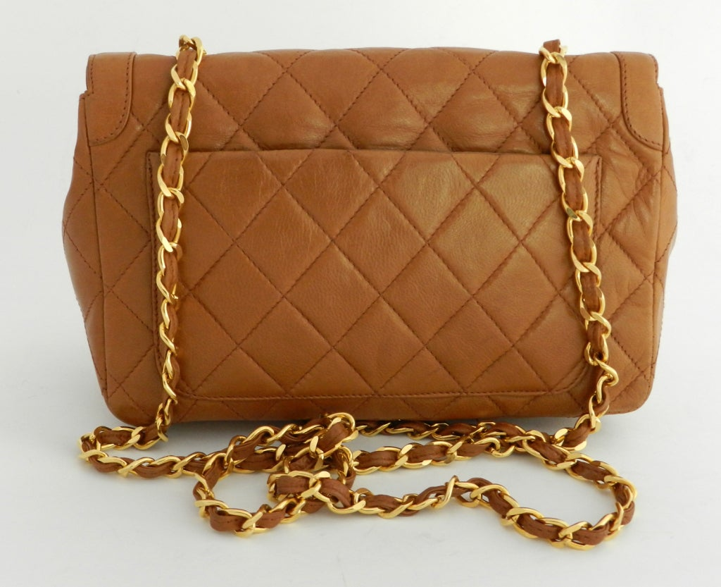 Chanel Classic Vintage Cross Body bag purse - Cognac image 3
