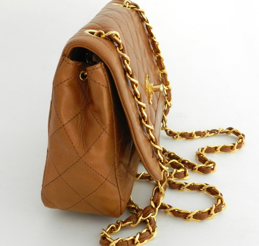 Chanel Classic Vintage Cross Body bag purse - Cognac image 4