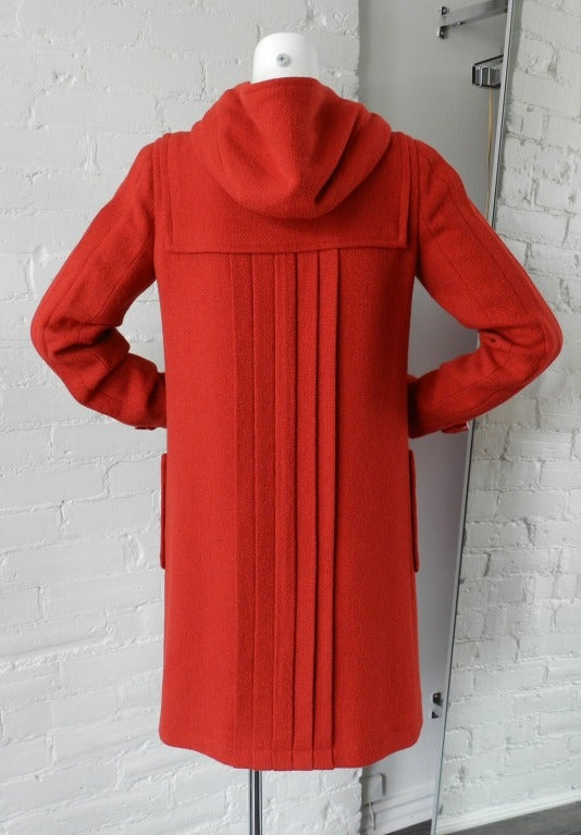Chanel 06A Red Boucle Wool Coat 6