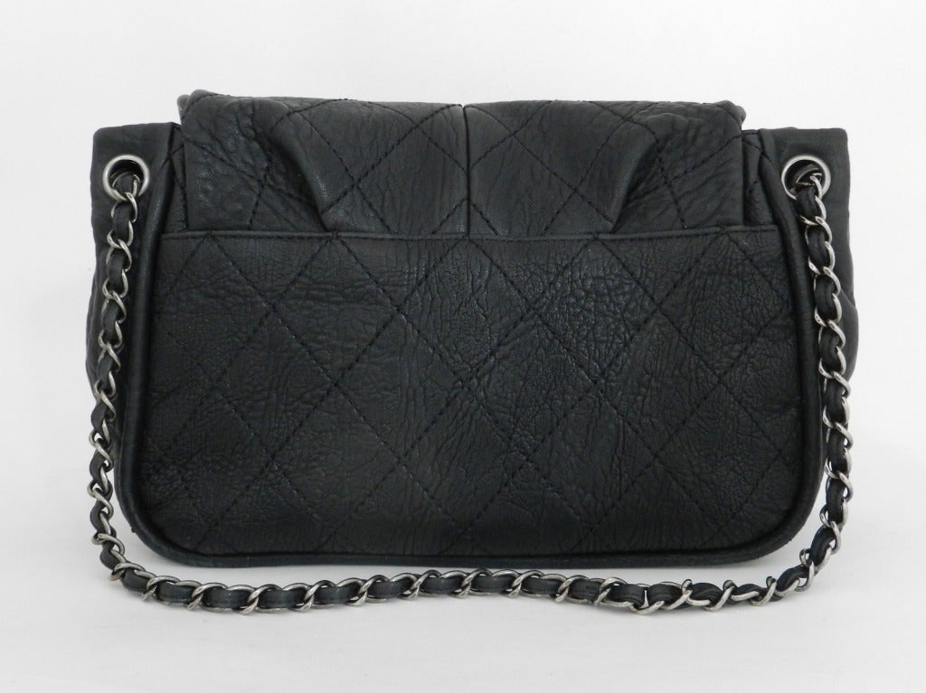 117e7a3d9d9d93 Chanel Black Bag / Purse with Gunmetal Hardware For Sale 1