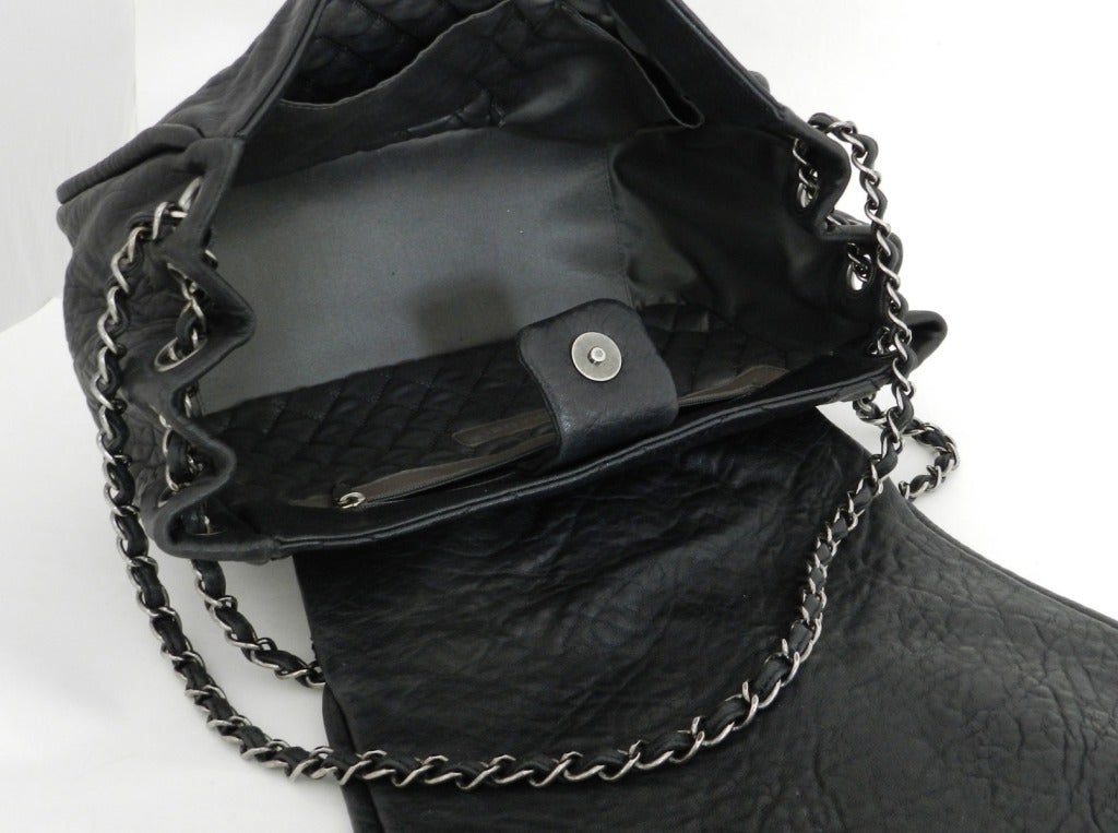 624c8578b0e5c5 Chanel Black Bag / Purse with Gunmetal Hardware For Sale 4
