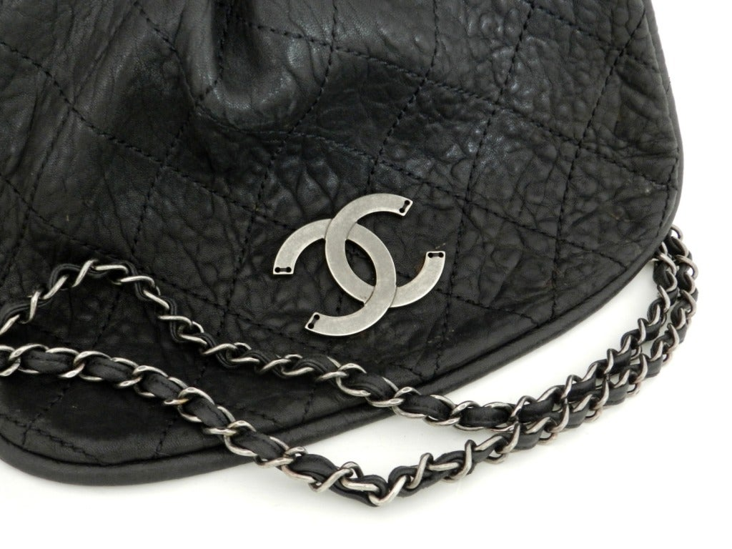 2c706715dda96d Chanel Black Bag / Purse with Gunmetal Hardware For Sale 6
