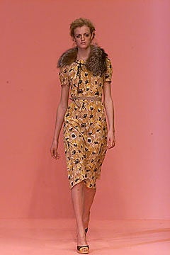 Prada 2000 Yellow Floral Silk Dress image 6