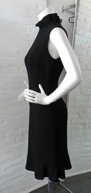 Chanel Haute Couture Numbered Black Wool Dress 2