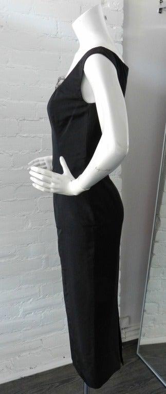 Alexander McQueen Black Silk Dress with Lace 3