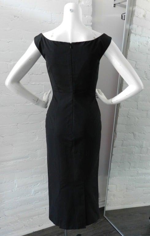 Alexander McQueen Black Silk Dress with Lace 4
