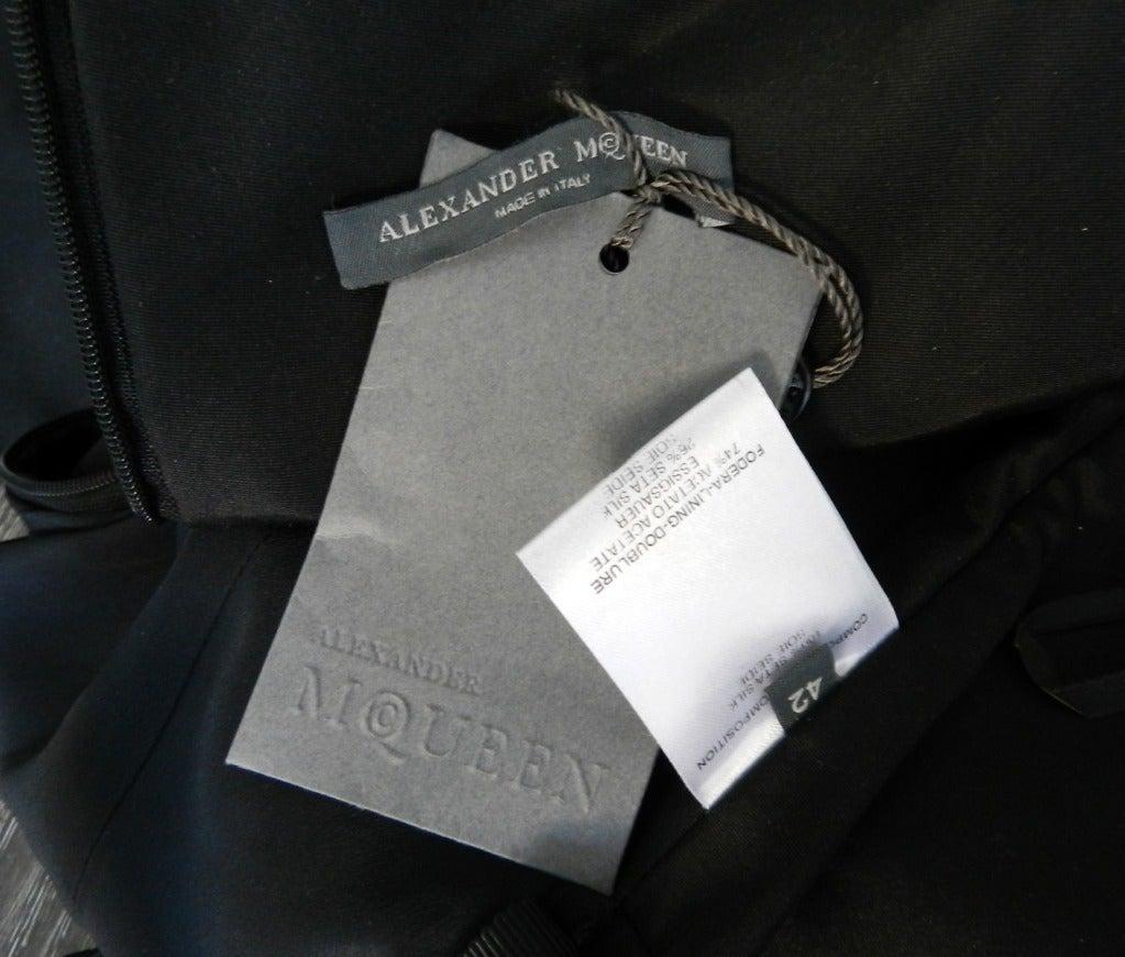Alexander McQueen Black Silk Dress with Lace 6