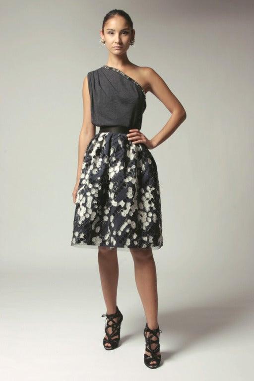 Naeem Khan Midnight Silk Sequin Skirt 2