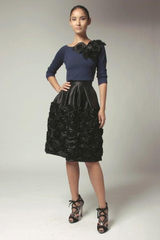 Naeem Khan Midnight Silk Sequin Skirt 3