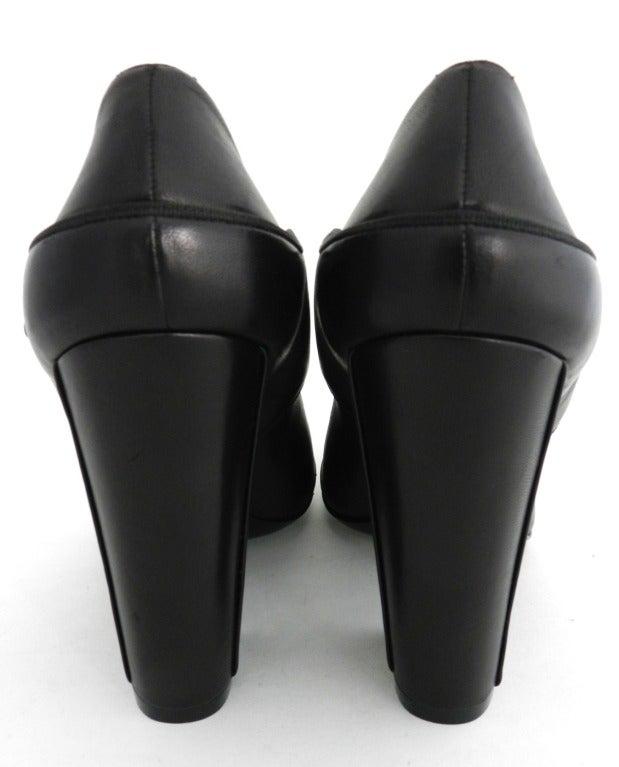Chanel 08p Black Patent Runway Mary Jane Heels 7