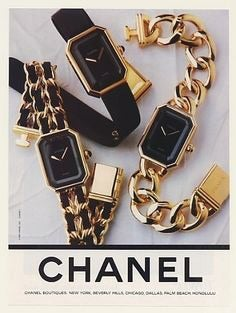 Chanel Vintage Premiere Watch Gold Plated 2