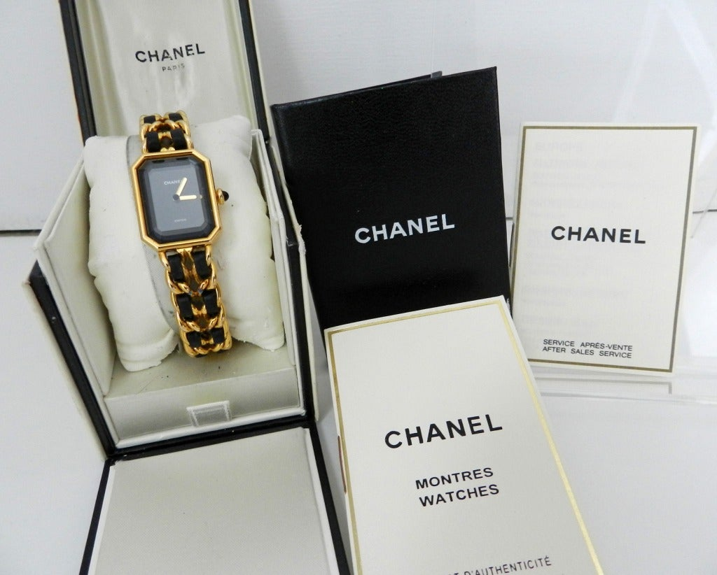 Chanel Vintage Premiere Watch Gold Plated 3