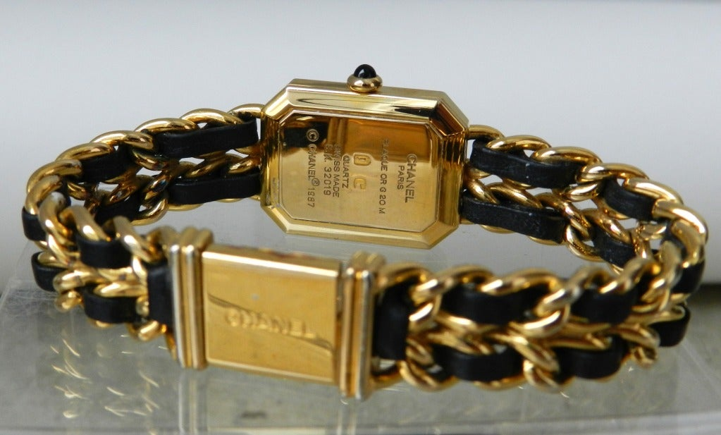 Chanel Vintage Premiere Watch Gold Plated 4