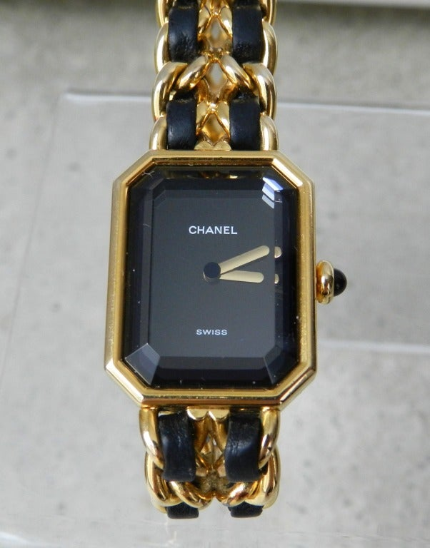 Chanel Vintage Premiere Watch Gold Plated 6