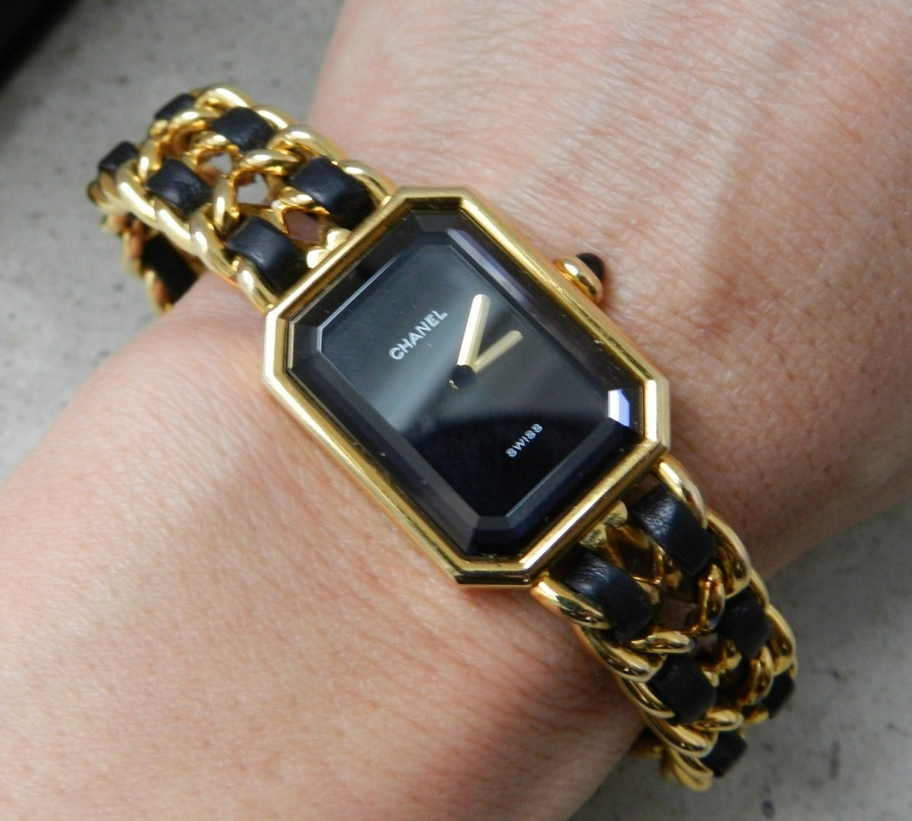 chanel vintage premiere gold plated at 1stdibs