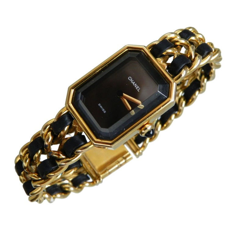 Chanel Vintage Premiere Watch Gold Plated 1