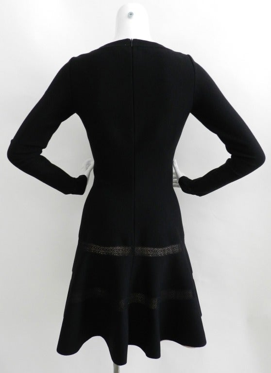 Alaia Black Bodycon Dress with Nude Lining 3