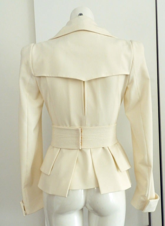Tom Ford Ivory Jacket W Gold Zippers At 1stdibs