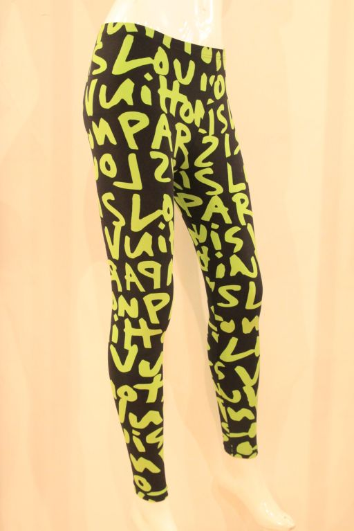 LOUIS VUITTON LIMITED EDITION SPROUSE GRAFFITI LEGGINGS -SZ 36 image 2