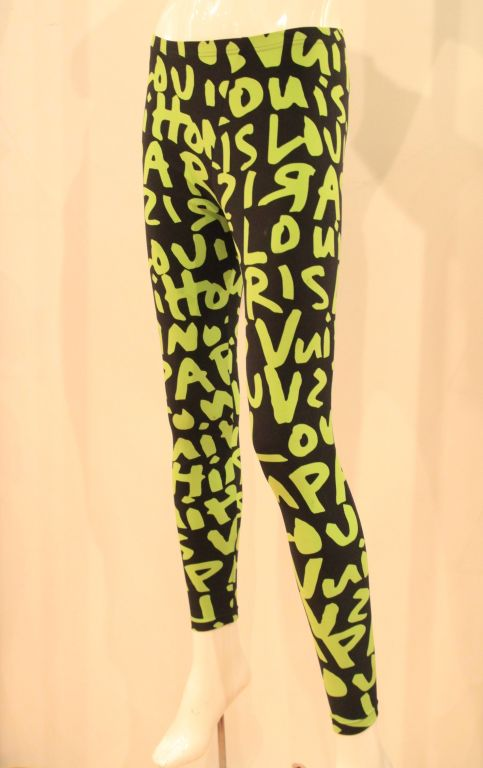 LOUIS VUITTON LIMITED EDITION SPROUSE GRAFFITI LEGGINGS -SZ 36 image 3