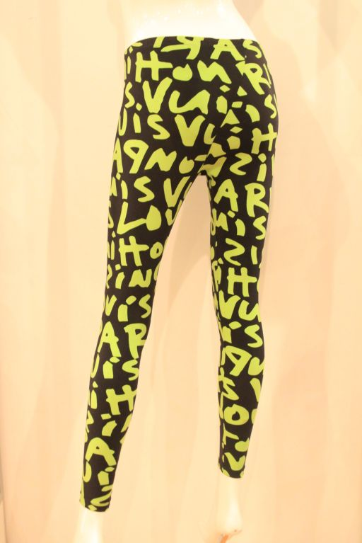 LOUIS VUITTON LIMITED EDITION SPROUSE GRAFFITI LEGGINGS -SZ 36 image 5