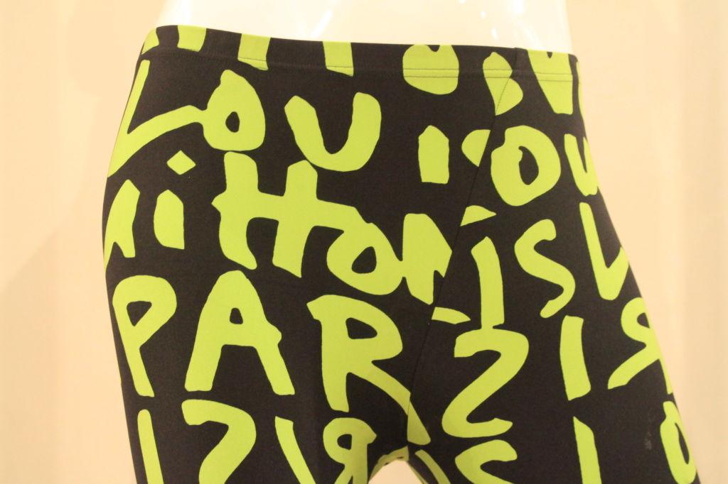 LOUIS VUITTON LIMITED EDITION SPROUSE GRAFFITI LEGGINGS -SZ 36 6