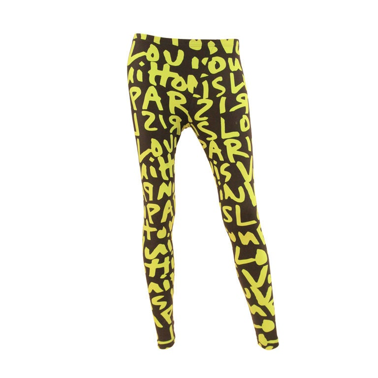 LOUIS VUITTON LIMITED EDITION SPROUSE GRAFFITI LEGGINGS -SZ 36