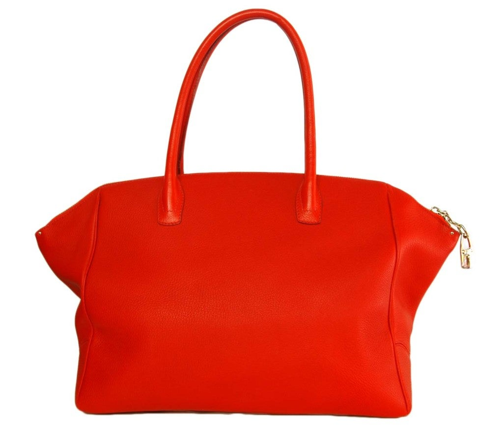 VBH Red Leather Brera Tote Bag 3