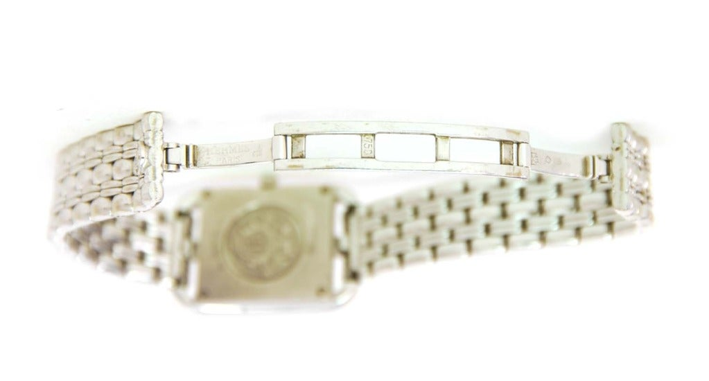 Hermes Lady's White Gold and Diamond Cape Cod PM Wristwatch 6