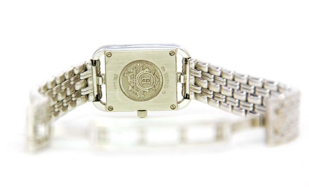 Hermes Lady's White Gold and Diamond Cape Cod PM Wristwatch 7