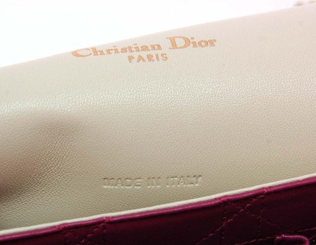 """CHRISTIAN DIOR """"Miss Dior"""" Beige Tweed Ltd Ed Shoulder Flap Bag image 9"""