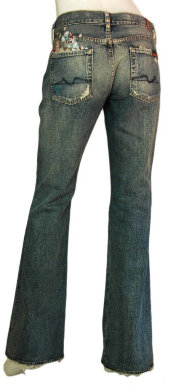 ZAC POSEN 7 For All Mankind Denim Jeans with Floral Print 3