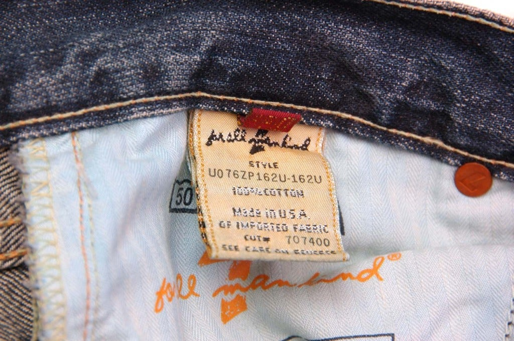 ZAC POSEN 7 For All Mankind Denim Jeans with Floral Print 5