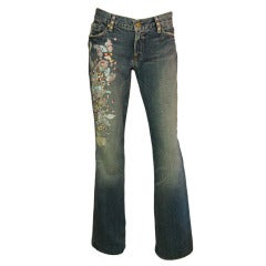ZAC POSEN 7 For All Mankind Denim Jeans with Floral Print
