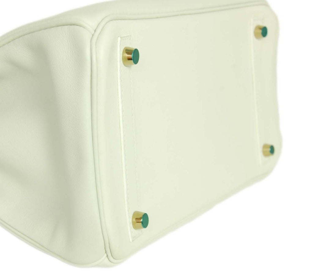 handbags that look like birkin - HERMES White Swift Leather 2007 30cm Birkin Bag W. GHW at 1stdibs