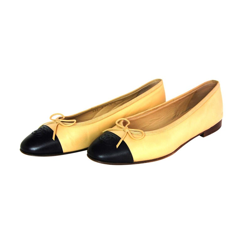 Tan Beige Ballet Flats Shoes