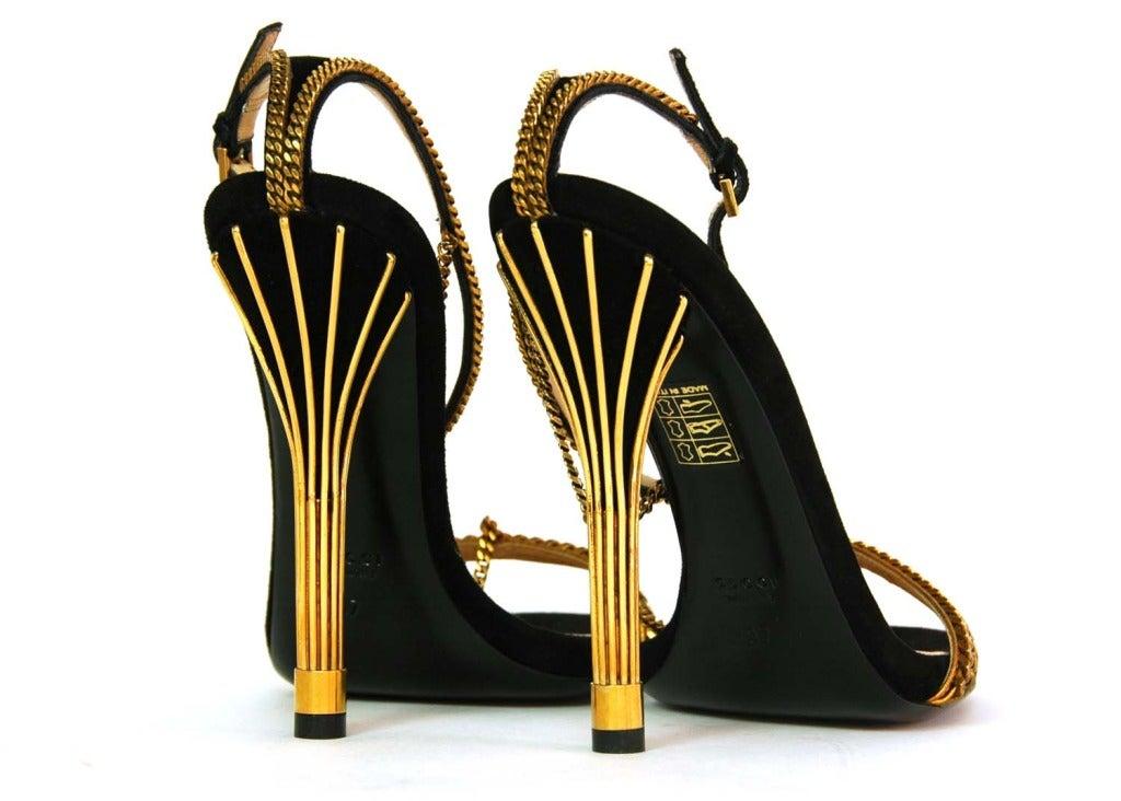 GUCCI NIB 'Ophelie' Black Suede T-Strap Heels Sz. 37/7 RT. $1,495 4