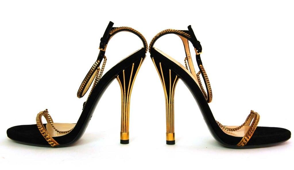 GUCCI NIB 'Ophelie' Black Suede T-Strap Heels Sz. 37/7 RT. $1,495 5