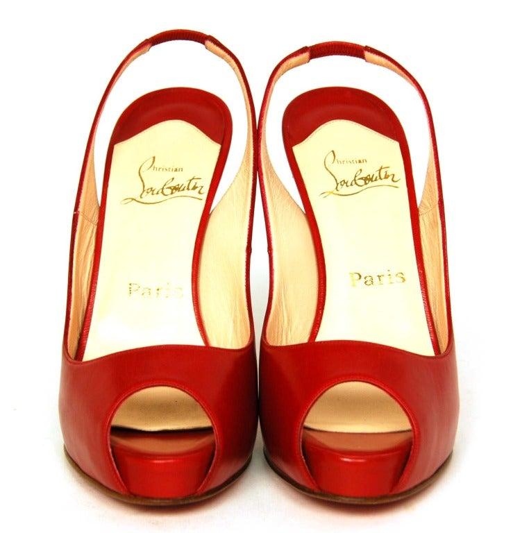 christian louboutin slingback peep toe