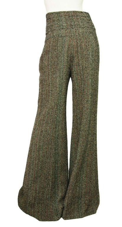 CHANEL NWT Red & Black Tweed Wide Leg, High Waisted Pants Sz. 40 RT. $1,240 3