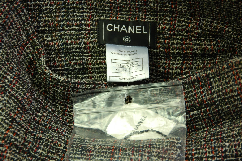 CHANEL NWT Red & Black Tweed Wide Leg, High Waisted Pants Sz. 40 RT. $1,240 4