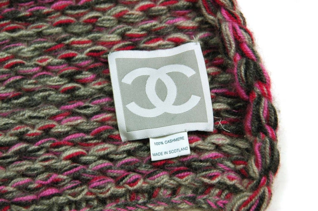 Knitting Patterns Scarves With Pockets : Chanel Long Chunky Knit Scarf with Pockets at 1stdibs