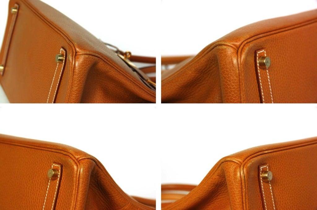 HERMES 1998 Tan Togo Leather 30cm Birkin Bag W. Gold Hardware at ...