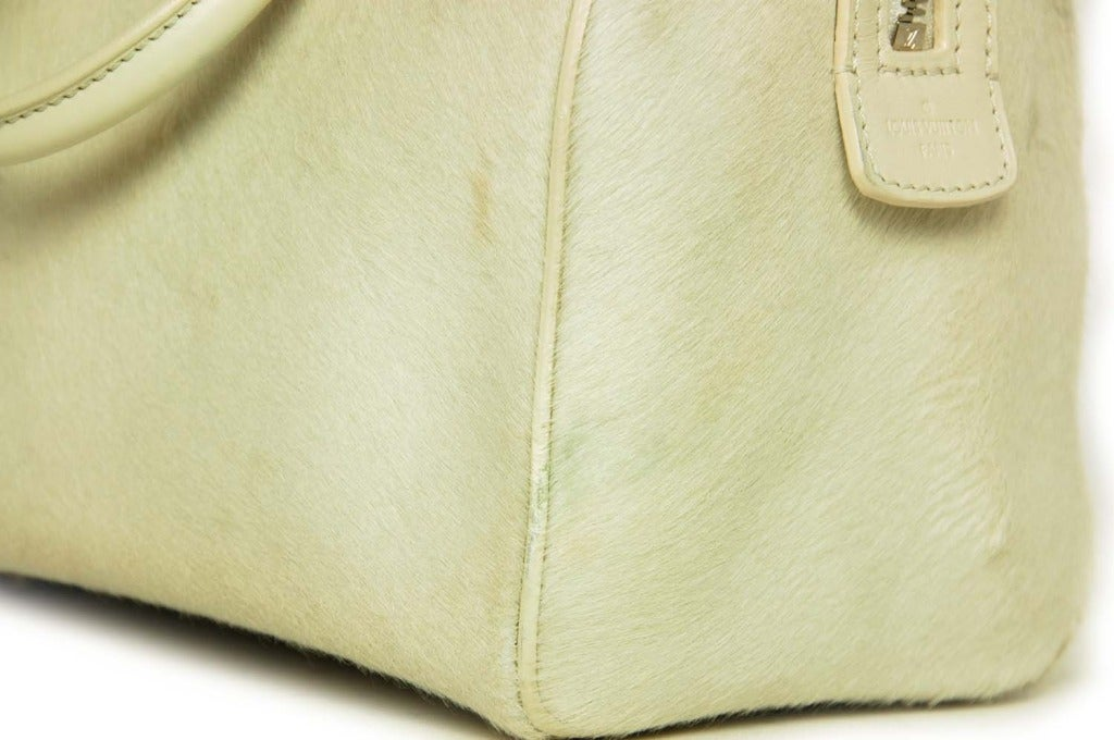 Louis Vuitton LV 2013 Limited Edition Ivory Pony Hair Speedy Cube Bag 5
