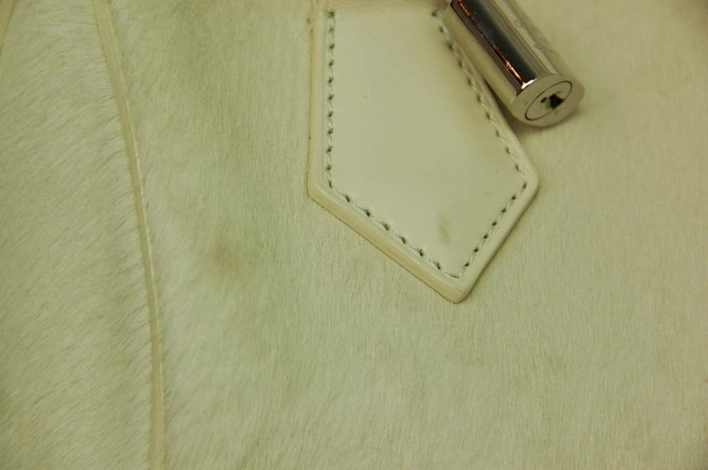Louis Vuitton LV 2013 Limited Edition Ivory Pony Hair Speedy Cube Bag 6