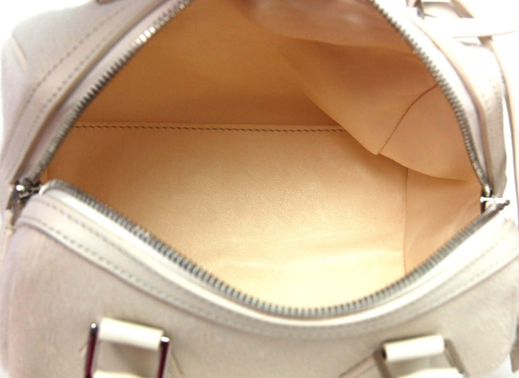 Louis Vuitton LV 2013 Limited Edition Ivory Pony Hair Speedy Cube Bag 8
