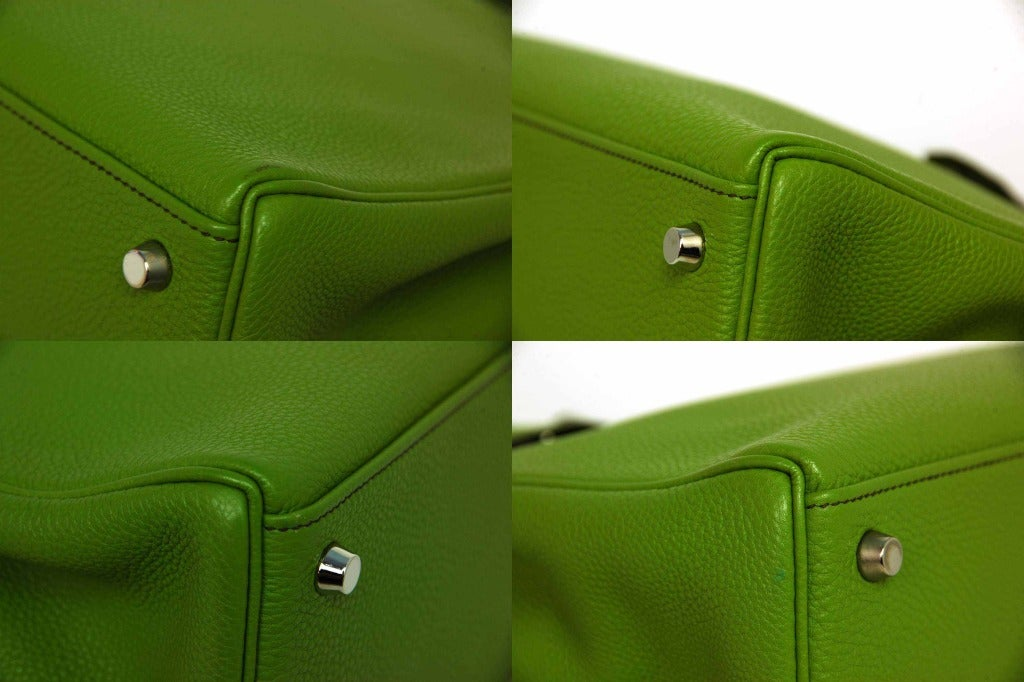 Hermes Vert Anis Green Togo Leather 32cm Kelly Bag With Palladium 9